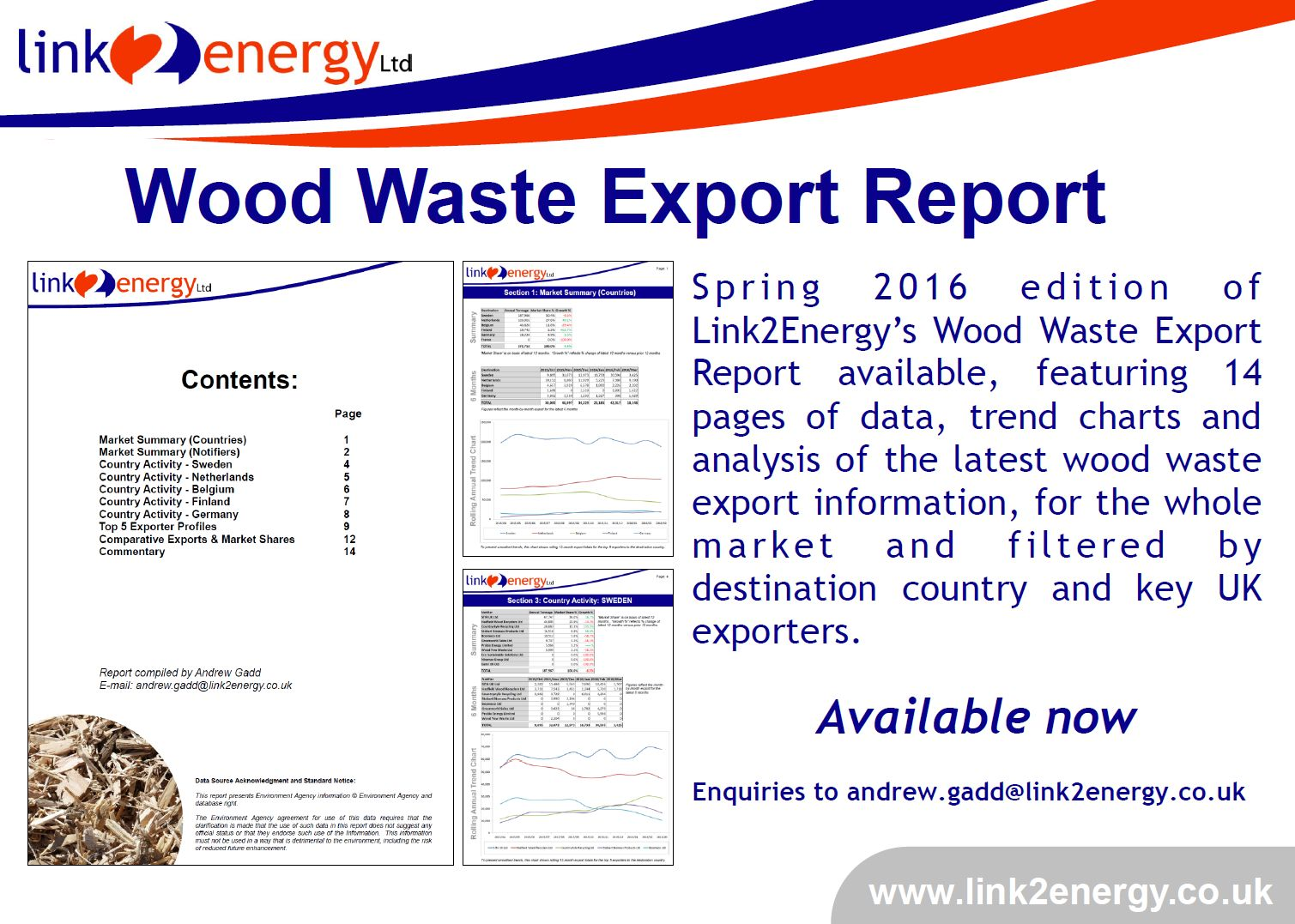 Wood Waste Export Report – Spring 2016